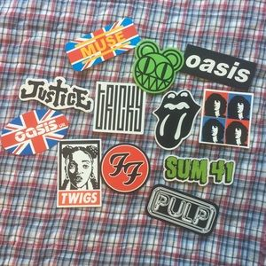 Other - Band sticker lot! Muse, Oasis, Foo Fighters